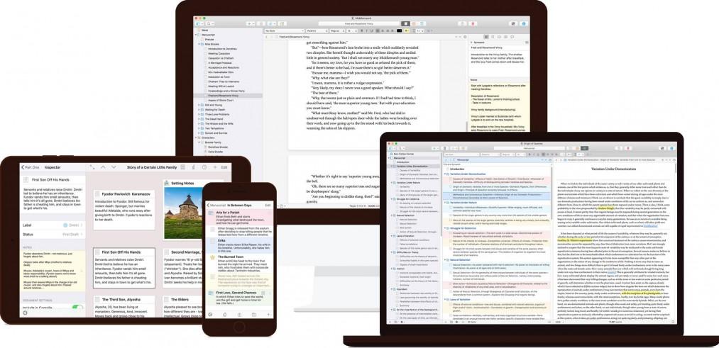 Scrivener screens